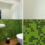 Mosaik, Badezimmer, grün