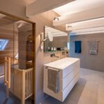 Badezimmer Waschtisch Sauna