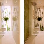 Dusche Mosaik grün
