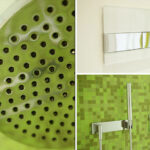 Badezimmer Moods Dusche Mosaik grün