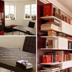 Bücherregal Bürotisch rot