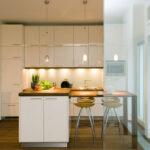 Küche weiß Glastrennwand