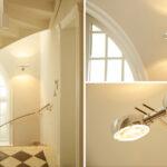 Occhio Leuchte Treppenhaus schwarzweiß