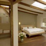 Schlafzimmer Badezimmer Dachbalken