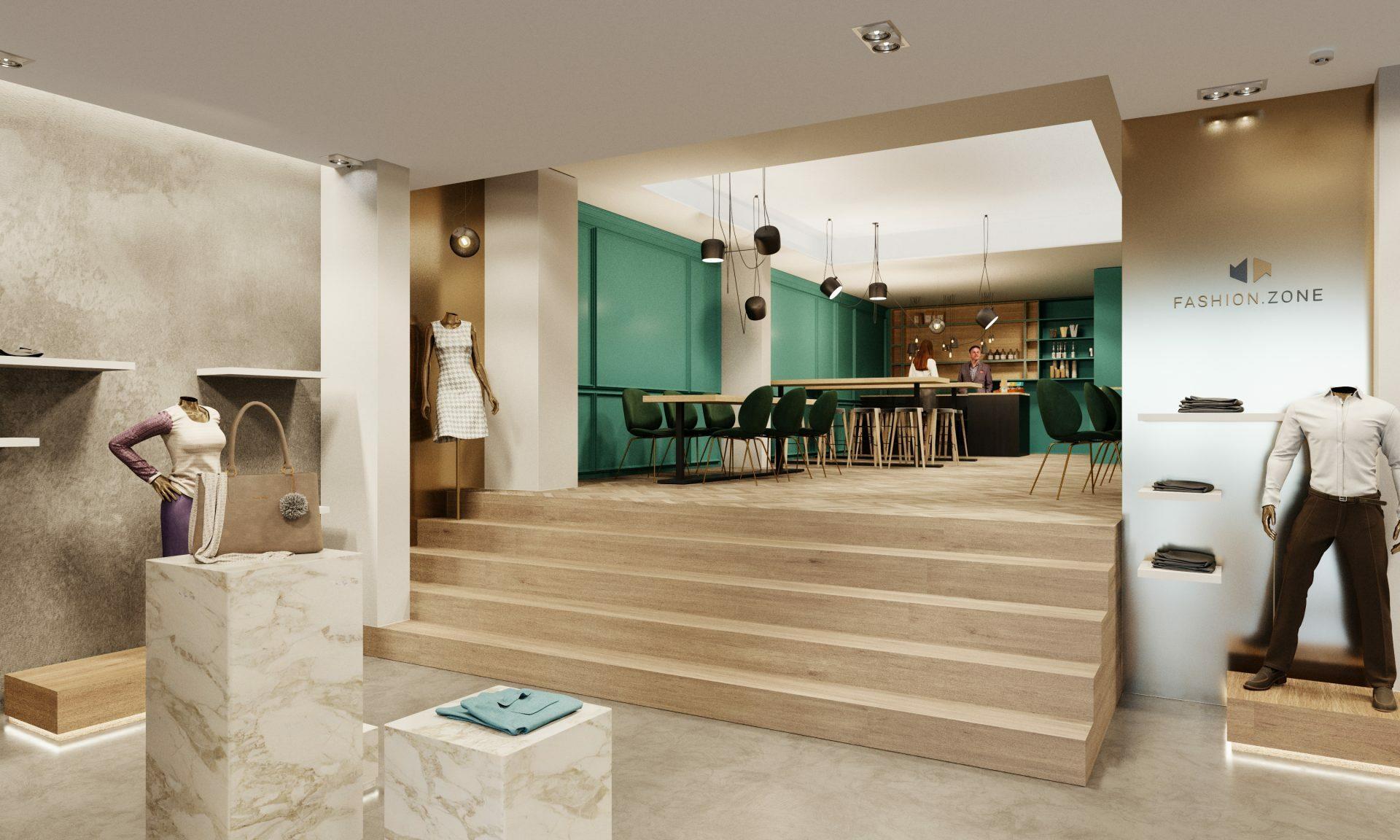 Shopkonzept Cafe Retail Design Marmor