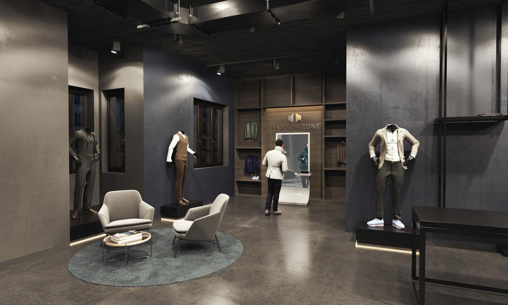 Shopkonzept Fashion Dark Rendering